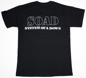 SYSTEM OF A DOWN BAND NEW BLACK T-SHIRT