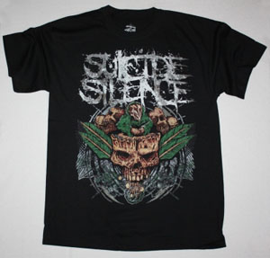SUICIDE SILENCE PLANT NEW BLACK T-SHIRT