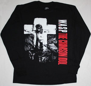 W.A.S.P. CRIMSON IDOL'92 NEW BLACK LONG SLEEVE T-SHIRT