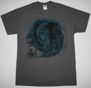 IN FLAMES SIREN CHARMS 2014 NEW GREY T-SHIRT