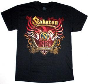 SABATON COAT OF ARMS NEW BLACK T-SHIRT