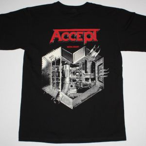 ACCEPT METAL HEART'85   NEW BLACK T-SHIRT
