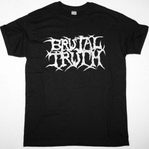 BRUTAL TRUTH LOGO NEW BLACK T-SHIRT