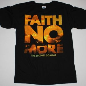 FAITH NO MORE THE SECOND COMING TOUR NEW BLACK T-SHIRT