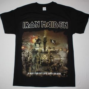 IRON MAIDEN A MATTER OF LIFE AND DEATH NEW BLACK T-SHIRT