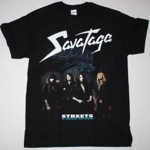SAVATAGE STREETS: A ROCK OPERA NEW BLACK T-SHIRT
