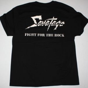 SAVATAGE FIGHT FOR THE ROCK 1986 NEW BLACK T-SHIRT