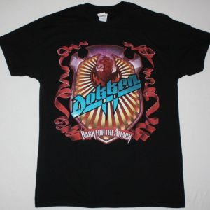 DOKKEN BACK FOR THE ATTACK NEW BLACK  T-SHIRT