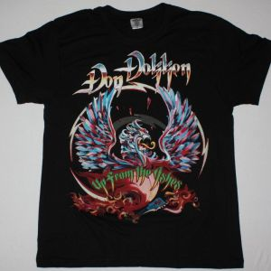 DON DOKKEN UP FROM THE ASHES NEW BLACK  T-SHIRT