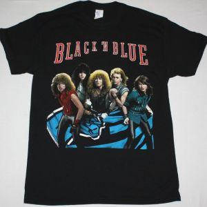 BLACK N BLUE BLACK'N BLUE 1984 NEW BLACK T-SHIRT