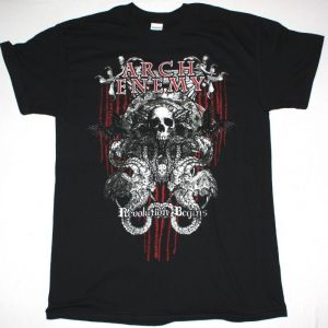 ARCH ENEMY REVOLUTION BEGINS NEW BLACK T-SHIRT