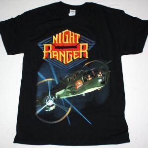 NIGHT RANGER 7 WISHES 1985 NEW BLACK T-SHIRT