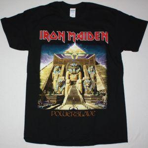 IRON MAIDEN POWERSLAVE 1984 NEW  BLACK T-SHIRT