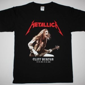 METALLICA CLIFF BURTON BASS GUITAR NEW BLACK T-SHIRT