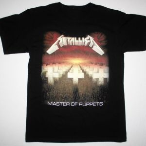 METALLICA MASTER OF PUPPETS'86 NEW BLACK T-SHIRT