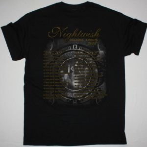 NIGHTWISH DECADES TOUR EUROPE 2018 NEW BLACK T-SHIRT