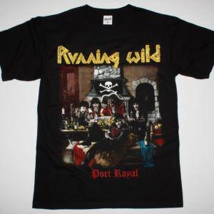 RUNNING WILD PORT ROYAL'88 NEW BLACK T-SHIRT