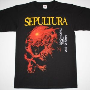 SEPULTURA BENEATH THE REMAINS'89  NEW BLACK T-SHIRT