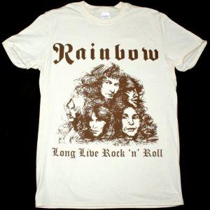 RAINBOW LONG LIVE ROCK'N'ROLL NEW NATURAL T-SHIRT
