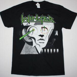 WINGER TOO TUFF TO TAME TOUR 88-89 NEW BLACK T-SHIRT