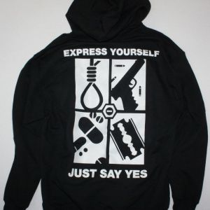 TYPE O NEGATIVE EXPRESS YOURSELF NEW BLACK HOODIE