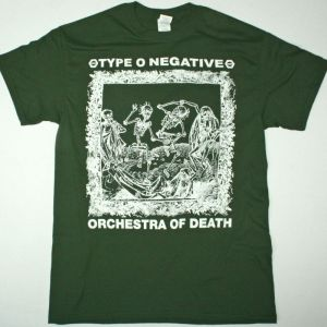 TYPE O NEGATIVE ORCHESTRA OF DEATH NEW FOREST GREEN T-SHIRT