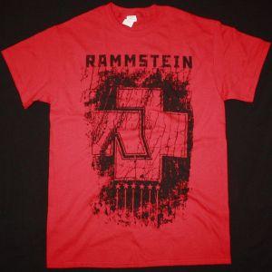 RAMMSTEIN 6 HERZEN NEW RED T-SHIRT