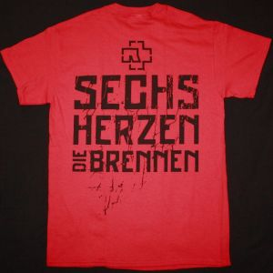 RAMMSTEIN 6 HERZEN NEW RED T-SHIRT
