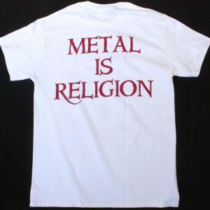 POWERWOLF METAL IS RELIGION NEW WHITE T-SHIRT