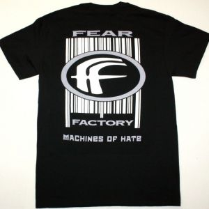 FEAR FACTORY MACHINES OF HATE NEW BLACK T-SHIRT