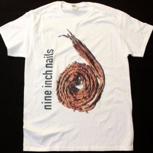 NINE INCH NAILS FURTHER DAWN THE SPIRAL  NEW WHITE T-SHIRT