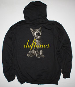 DEFTONES ADRENALINE NEW BLACK ZIPPED HOODIE