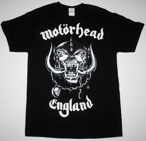 MOTORHEAD ENGLAND 2 NEW BLACK T-SHIRT