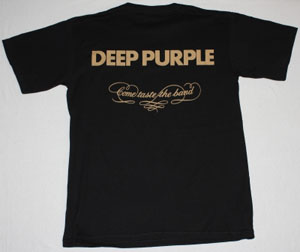 DEEP PURPLE COME TASTE THE BAND'75 NEW BLACK T-SHIRT