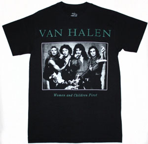 VAN HALEN WOMEN AND CHILDREN FIRST '80 NEW BLACK T-SHIRT