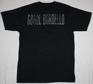 GOGOL BORDELLO BAND  NEW BLACK T-SHIRT