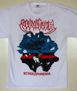 SEPULTURA SCHIZOPHRENIA NEW WHITE T-SHIRT