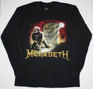 MEGADETH MARY JANE'88  LONG SLEEVE T-SHIRT