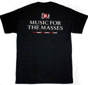 DEPECHE MODE MUSIC FOR THE MASSES NEW BLACK T-SHIRT