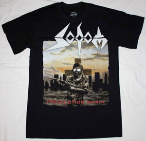 SODOM PERSECUTION MANIA NEW BLACK T-SHIRT