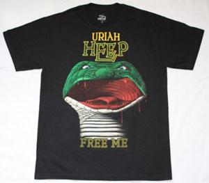 URIAH HEEP FREE ME INNOCENT VICTIM 1977 NEW BLACK T-SHIRT
