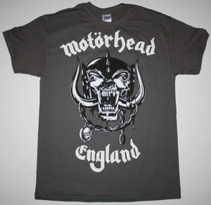 MOTORHEAD ENGLAND 2 NEW GREY CHARCOAL T-SHIRT