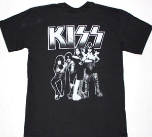 KISS BAND DESTROYER NEW BLACK T-SHIRT