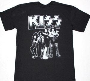 KISS BAND DESTROYER NEW BLACK T-SHIRT