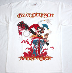 BRUCE DICKINSON ACCIDENT AT BIRTH'97 NEW WHITE RARE T-SHIRT