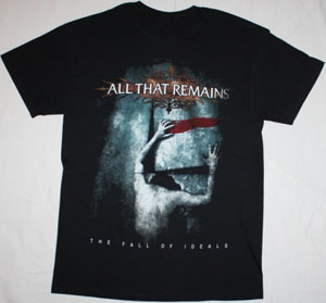 ALL THAT REMAINS THE FALL OF IDEALS NEW BLACK T-SHIRT