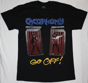 CACOPHONY GO OFF!  1988 MARTY FRIEDMAN JASON BECKER NEW BLACK T-SHIRT