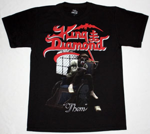 KING DIAMOND THEM NEW BLACK T-SHIRT