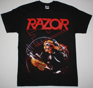 RAZOR EVIL INVADERS'85 NEW BLACK T-SHIRT