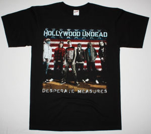 HOLLYWOOD UNDEAD DESPERATE MEASURES NEW BLACK T-SHIRT